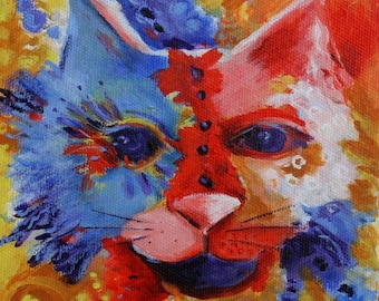 Cat abstract Print  archival to 150 years, Three Sizes Available     Frame Not included