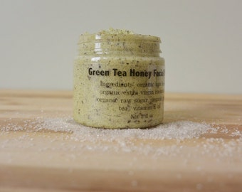 All Natural Green Tea Honey Facial Scrub