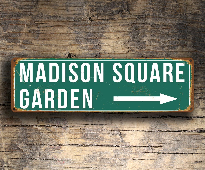 MADISON SQUARE GARDEN Sign Vintage style Madison Square