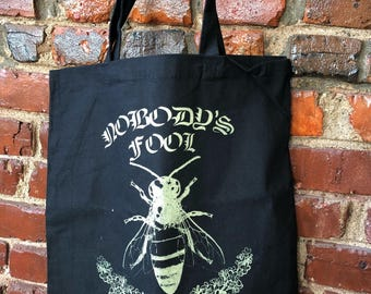 Nobody's Fool Tote gold and black