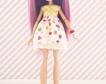 Monster! Handmade! Doll clothes — Dress for dolls and bracelets.