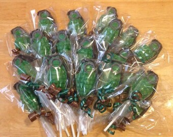 Grenade Chocolate Lollipops