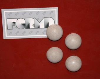 Concrete Half Circle Magnets - Set of 4