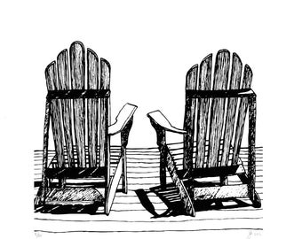 Adirondack Chair Screen Print