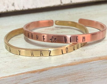 Bronze or copper slave bracelets