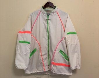 White & Neon Vintage Jacket