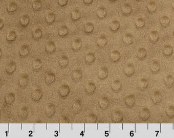 1 Yd Minky Dot Cappuccino Cuddle® Dimple  (Shannon Fabrics)