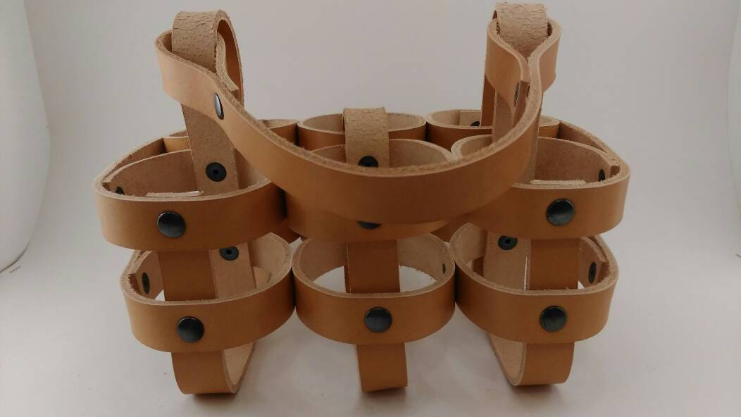 six pack holder template - pattern leather six pack carrier beer carrier from