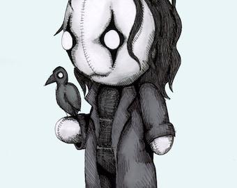 The Crow Plush Fine Art Print