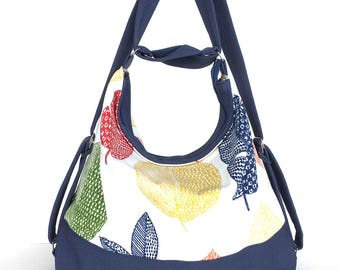 Summer hobo bag, Convertible bag, Vegan shoulder bag, Women backpack,Backpack purse, Convertible backpack,Shoulder purse, Multicolour hobo