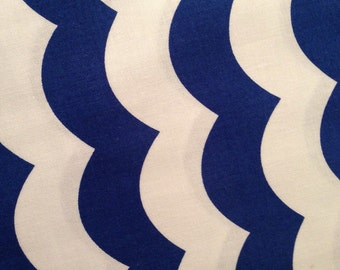 Riley Blake Royal Blue and White Nautical Waves fabric by the yard