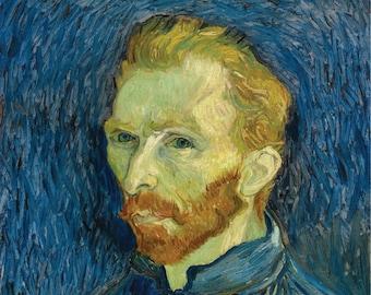 LARGE PRINT Vincent Van Gogh Self Portrait / Vincent Van Gogh Print / Vincent Van Gogh Portrait / Van Gogh Self Portrait / Van Goug Poster