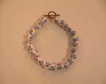 forget-me-not china bracelet