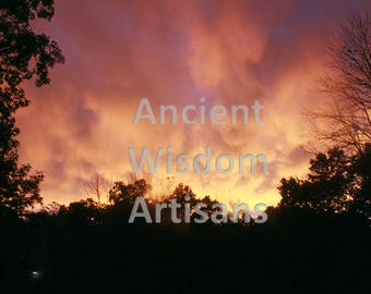 """Sunset 8x10 Glossy Photo Print. """"Summer Storm Sunset."""" Part of the """"Dramatic Nature"""" Series."""