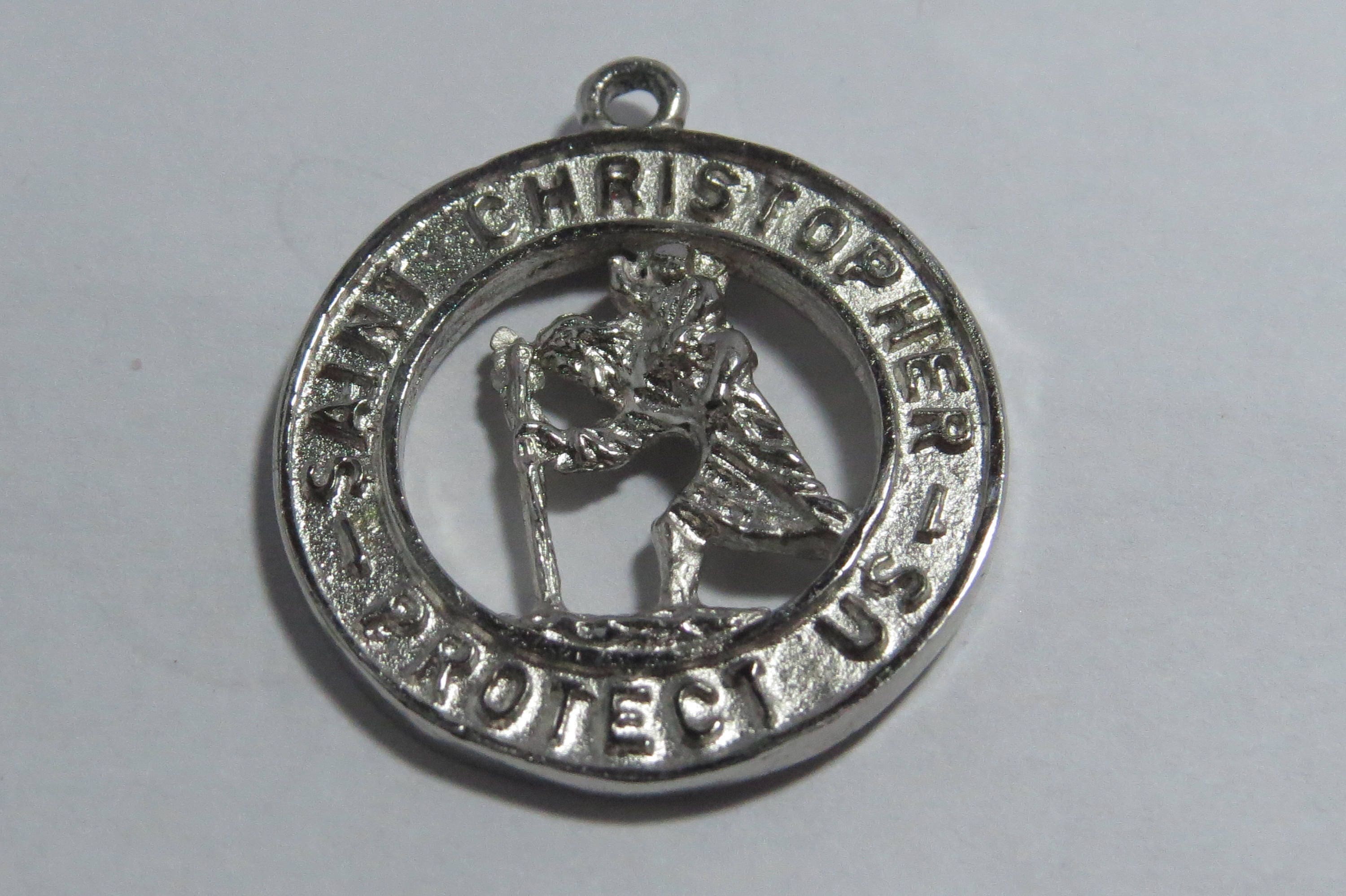 saint card christopher medal prayer pendant st with catholic