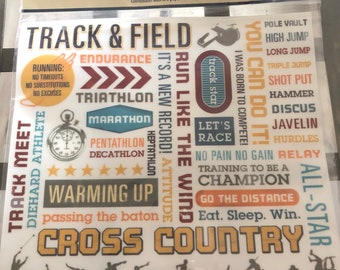 Cross country scrapbooking sports