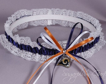 Los Angeles Rams Lace Wedding Garter - Ready to Ship