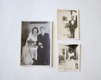 Vintage Wedding Photographs - Bride and Groom Photographs - Instant Collection of Vintage Photographs