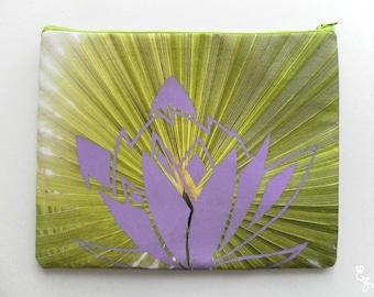 Palm Lotus  - Photo Print Silkscreened Bag