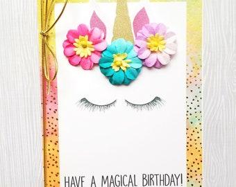 Have a Magical Birthday Unicorn Card