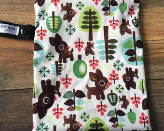 Small Travel Wetbag- Reindeer