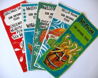 Vintage New Souvenir San Antonio post cards 1968