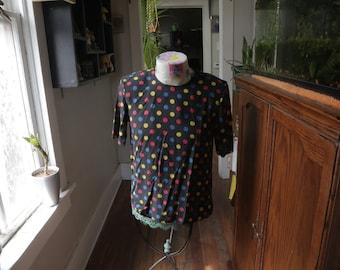 Vintage Polka Dot Christie & Jill 100% Silk Blouse