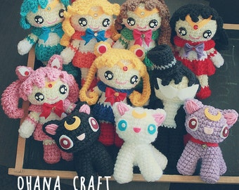 Free Shipping-Sailor Moon inspired crochet doll-Sailor Moon Plushies -Made to order-