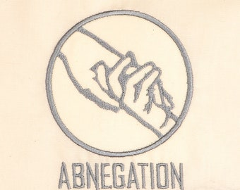Divergent Abnegation 4x4 machine embroidery design