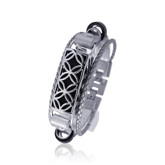 Bracelet FUSION- SILVER - Flex Jewelry -  made from 925 sterling silver and leather