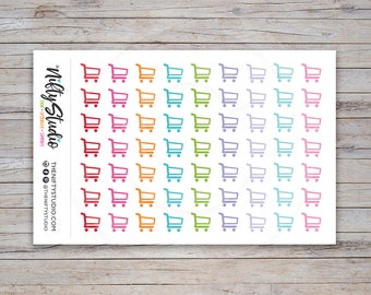 Shopping Cart Stickers | Planner Stickers | The Nifty Studio [160]