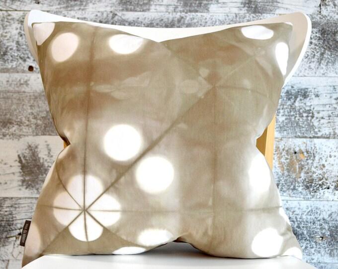 Modern Shibori Pillow Cover 18x18 inches - Wild Mushroom