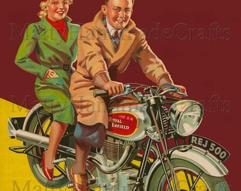 Royal Enfield, Silver Bullet 500, Motorcycle 1930s Print