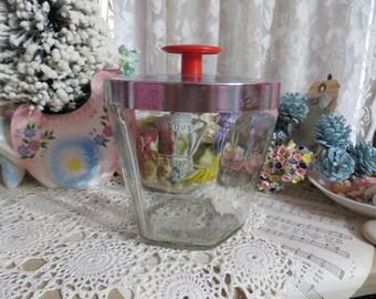 Vintage Glass Grease Jar with Lid