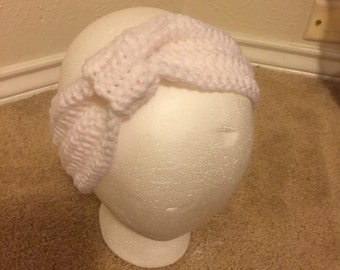 White Knotted Headband