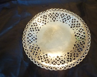 Pierced silver plated dish