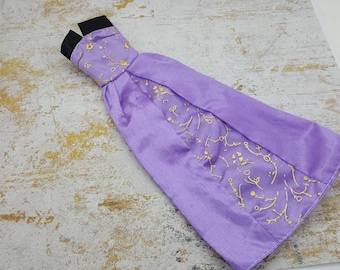 Barbie Lilac A line Gown Satin  fashions Outfit 11 inch doll