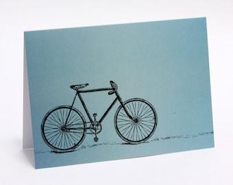Vintage Bicycle Card - Blank Inside, greeting card, birthday card, cyclist card