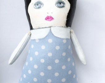 Painted Ragdoll - Painted Cloth Doll - Gift for Her - Gift for Girls