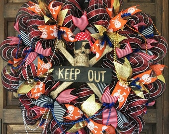 Extra Large Gasparilla Pirate Wreath