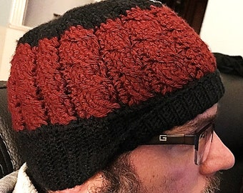Men's Dual Cabled Beanie Crochet Pattern