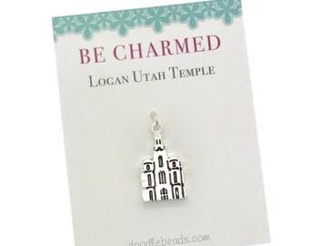 Logan Temple, LDS Temple charm, Logan Utah Mormon Temple charms, LDS Wedding, Temple charm bracelet, temple Necklace or temple keyring charm