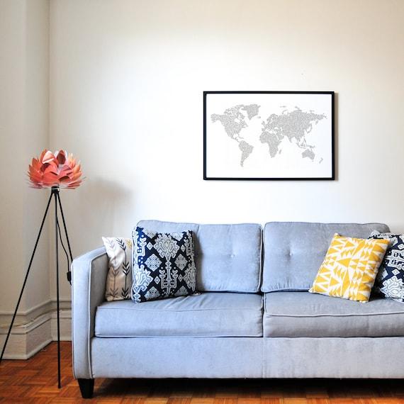 Welt-Reise-Karte-Poster Weltkarte Malvorlagen Erwachsenen