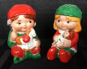 Avon 1983 Chldren or Santas Elves Salt and Pepper set