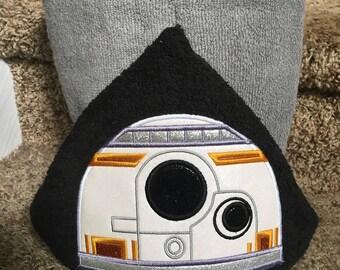 Robot B Hooded Towel