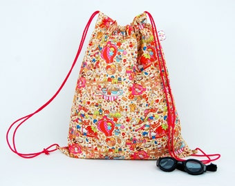 4f6cb60fe Party Town Oversized Waterproof Drawstring bag for Adults & Children. Suitable  swim, gym or PE.