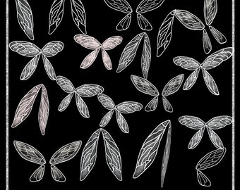 Fairy Wings Overlays, Png Wings, Photo wings, Photo Tools, Transparent Png, Photography Overlay, Hand drawn Wings, Instant Download
