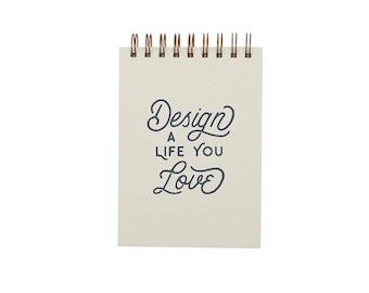 Design A Life Grid Notebook - Notebook | Journal | Pocket Notebook | Spiral Bound | Gridded Pages