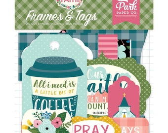 Have Faith - Frames & Tags Cardstock Die-Cuts 33/Pkg - by Echo Park Paper Co. - Perfect for Bible Journaling!