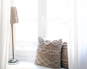 Handmade knit lampshade cover/ Wool Lampshade / Decoration